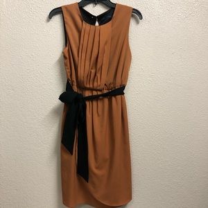 Zara dress basic loose casual lined creased I2
